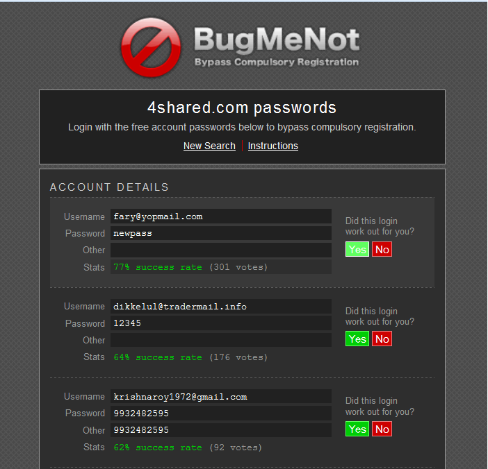 Roblox Account Bugmenot 2018 - How To Access Any Website Without Getting Spammed